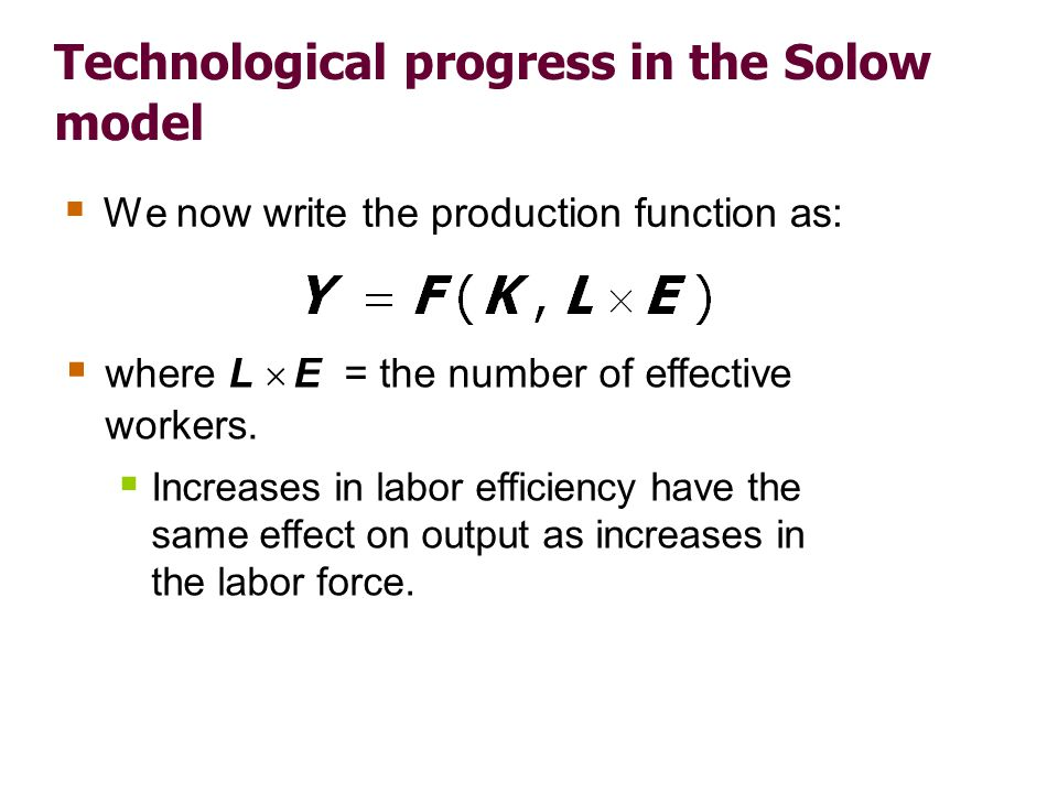 Technological progress in the Solow model