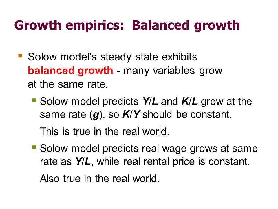 Growth empirics: Convergence