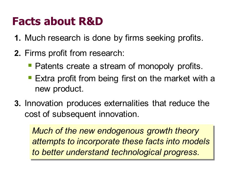 Is the private sector doing enough R&D