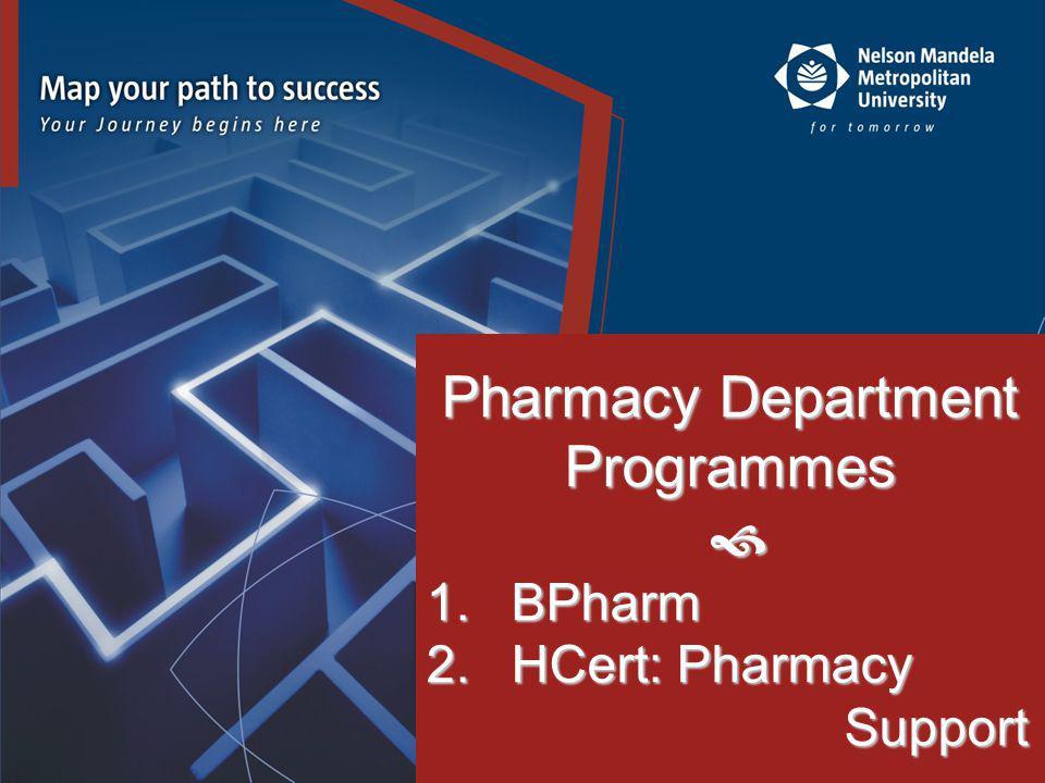 Pharmacy Department Programmes