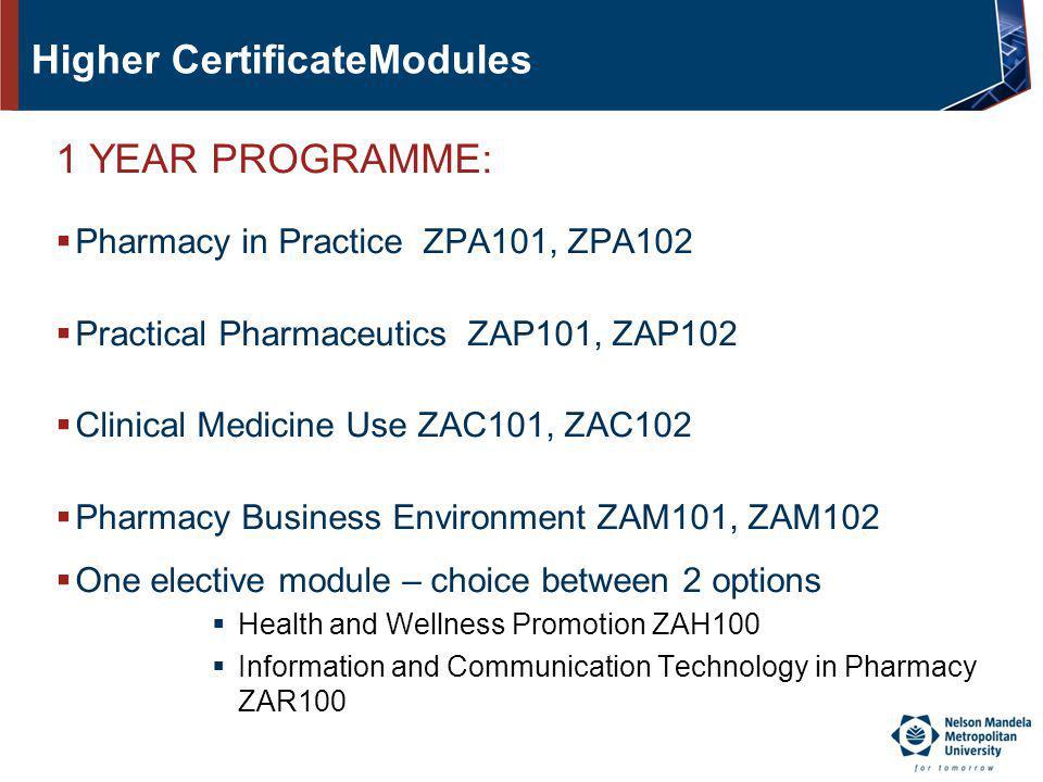 Higher CertificateModules