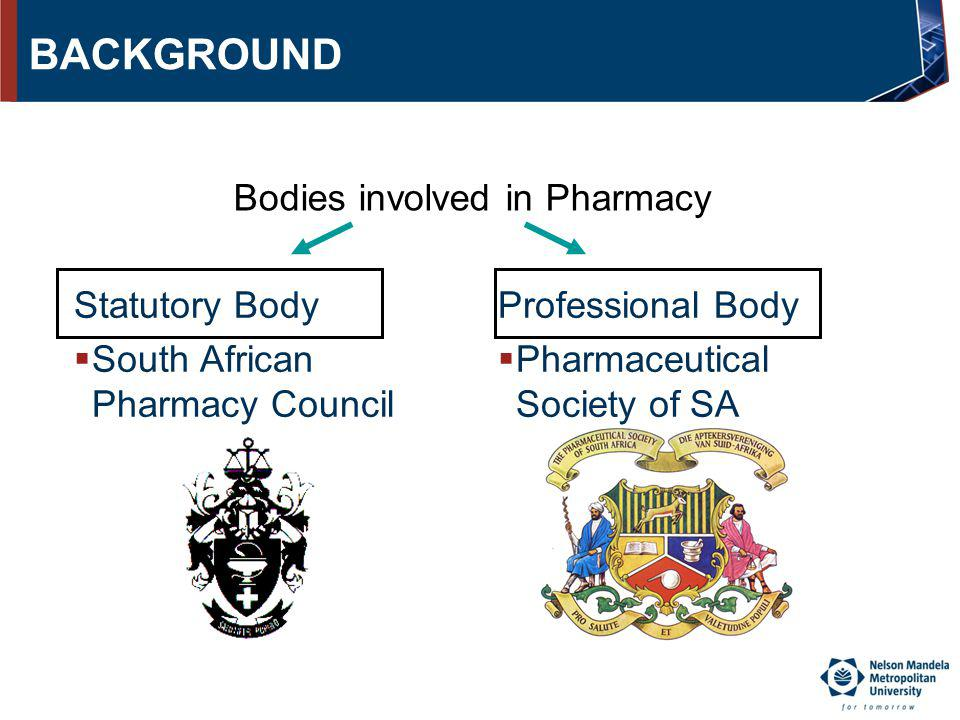 Bodies involved in Pharmacy