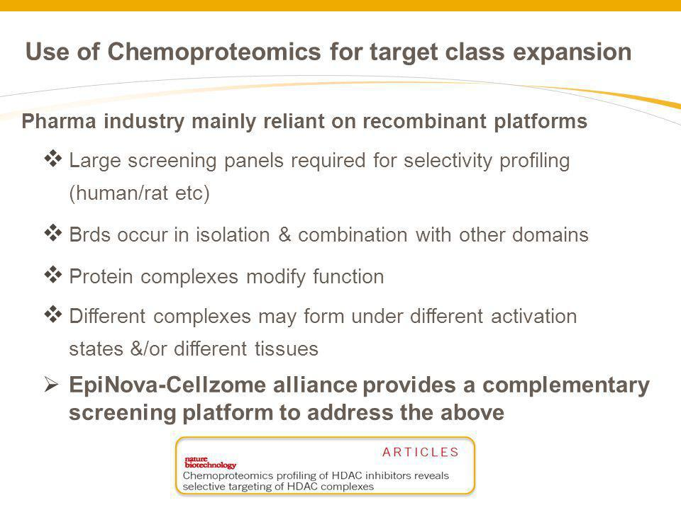 Use of Chemoproteomics for target class expansion