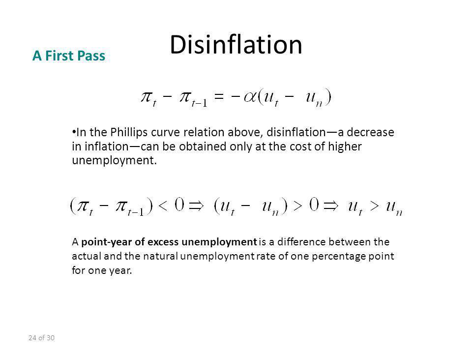 Disinflation A First Pass