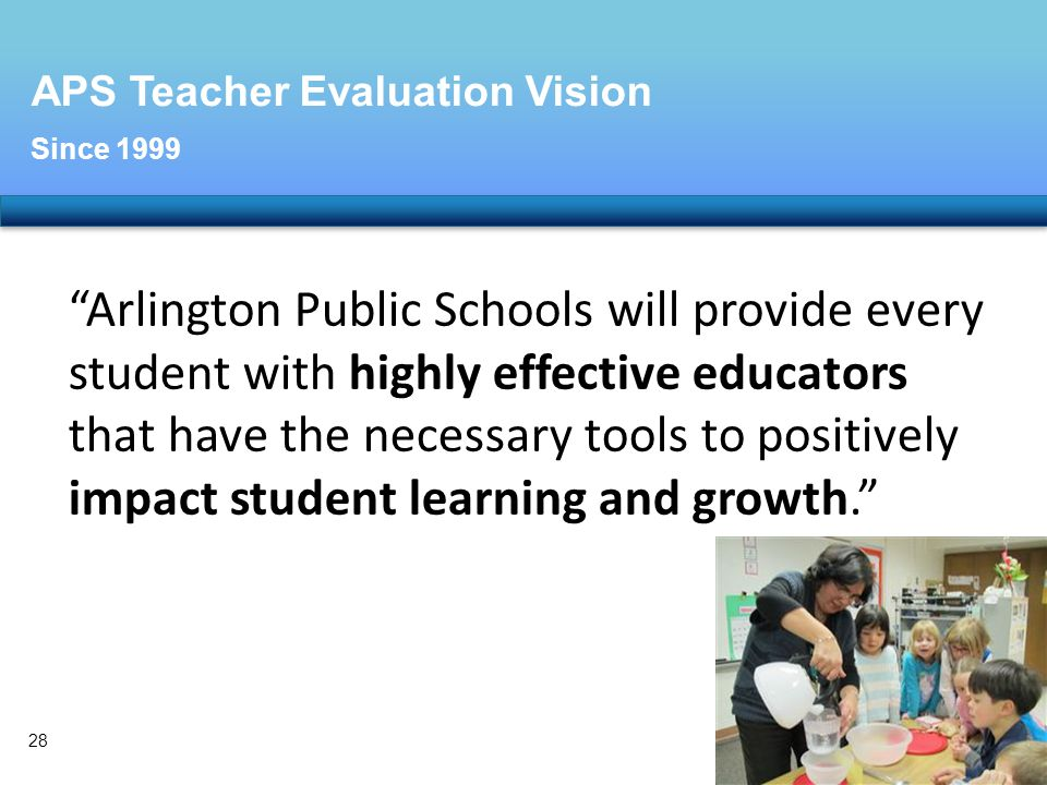 APS Teacher Evaluation Vision