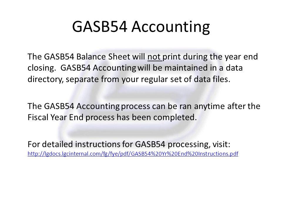 GASB54 Accounting