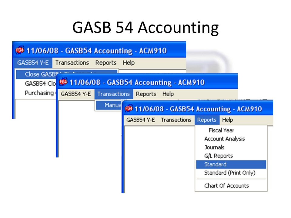 GASB 54 Accounting