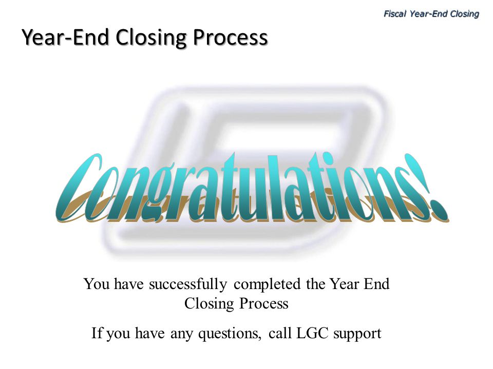 Year-End Closing Process