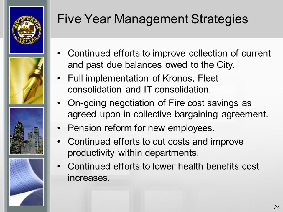Five Year Management Strategies