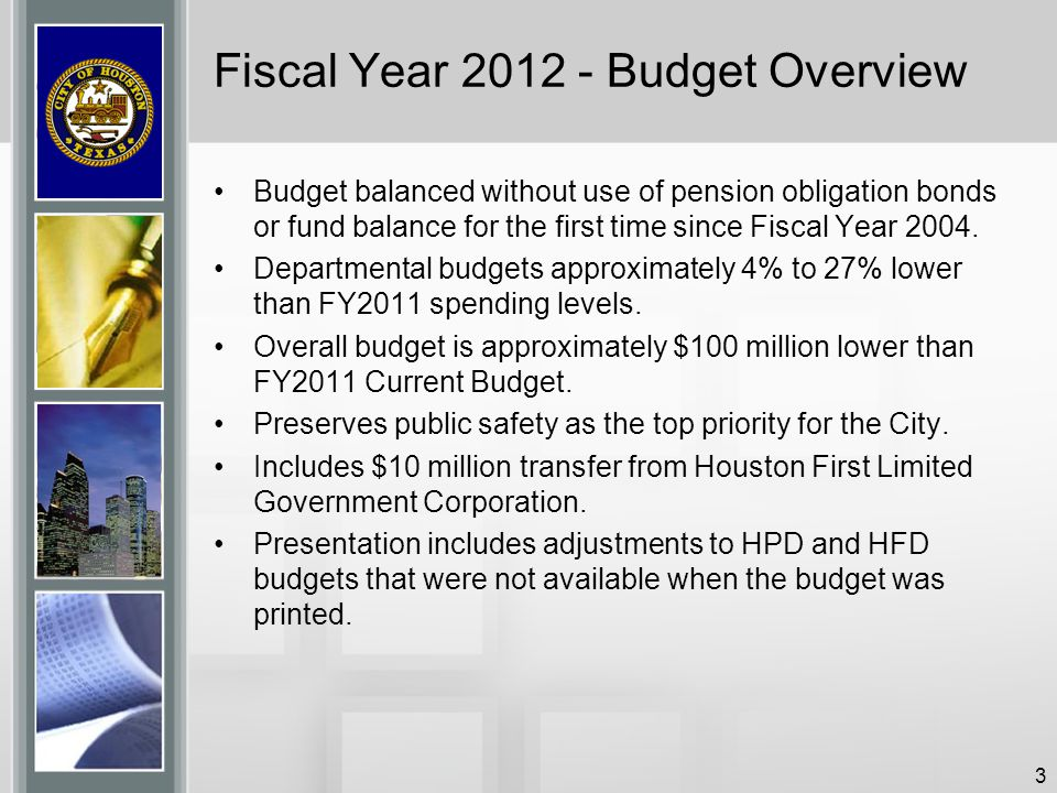 Fiscal Year 2012 - Budget Overview
