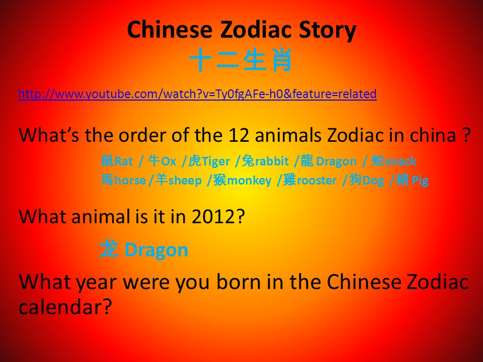 Chinese Zodiac Story 十二生肖