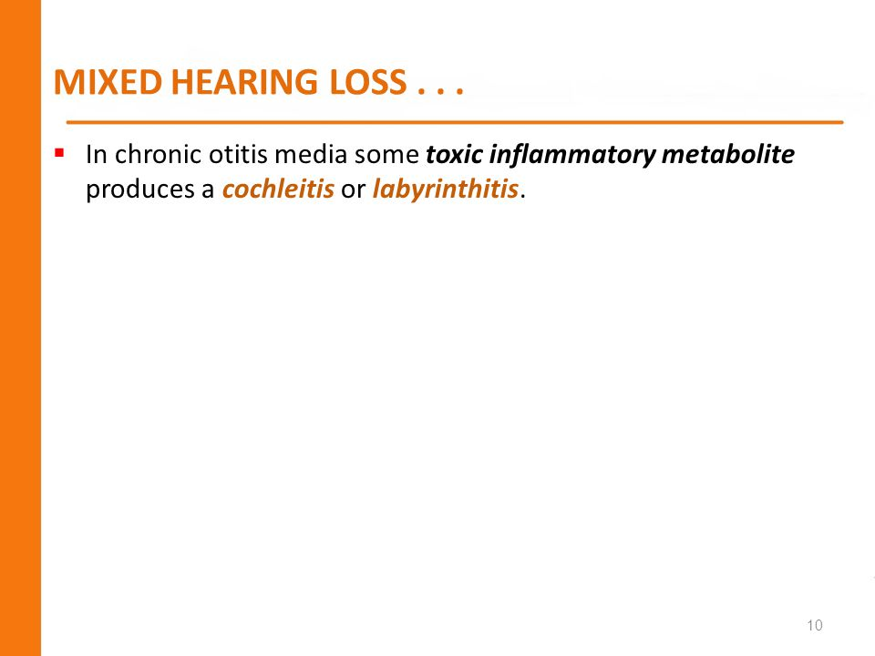 MIXED HEARING LOSS .