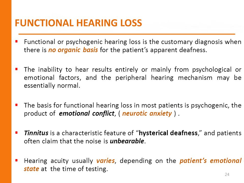 FUNCTIONAL HEARING LOSS