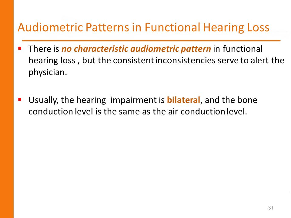 Audiometric Patterns in Functional Hearing Loss