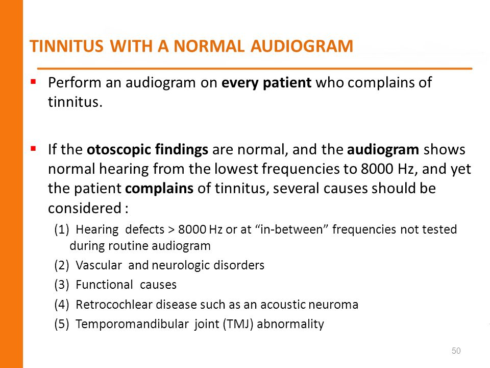 TINNITUS WITH A NORMAL AUDIOGRAM