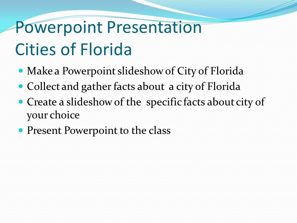 Powerpoint Presentation Cities of Florida
