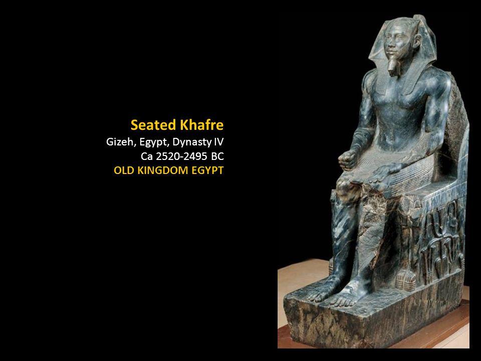 Seated Khafre Gizeh, Egypt, Dynasty IV