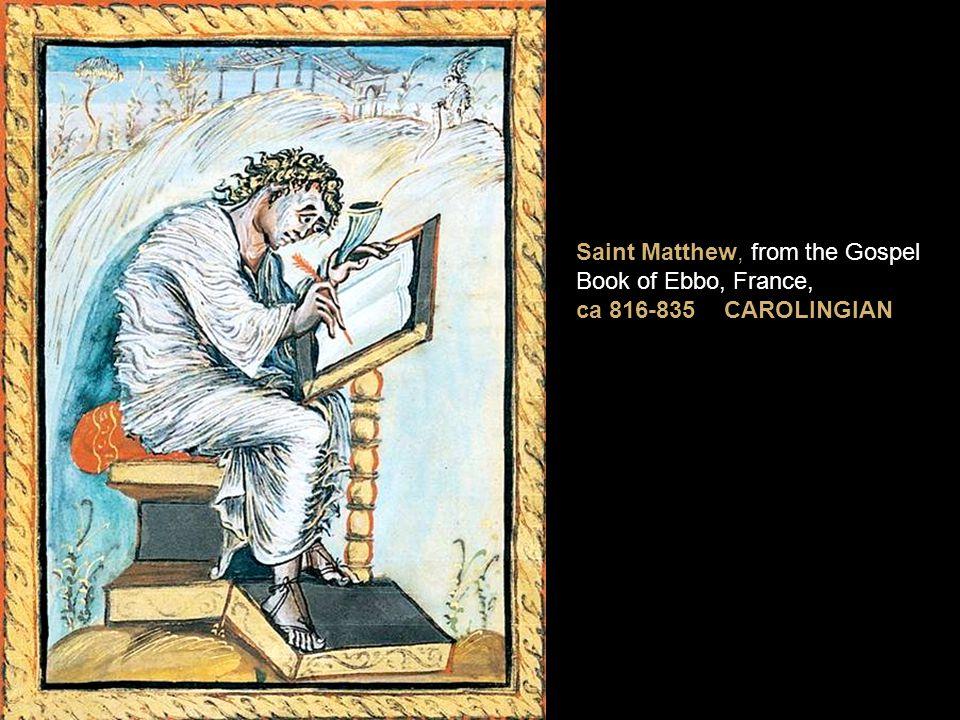 Saint Matthew, from the Gospel Book of Ebbo, France,