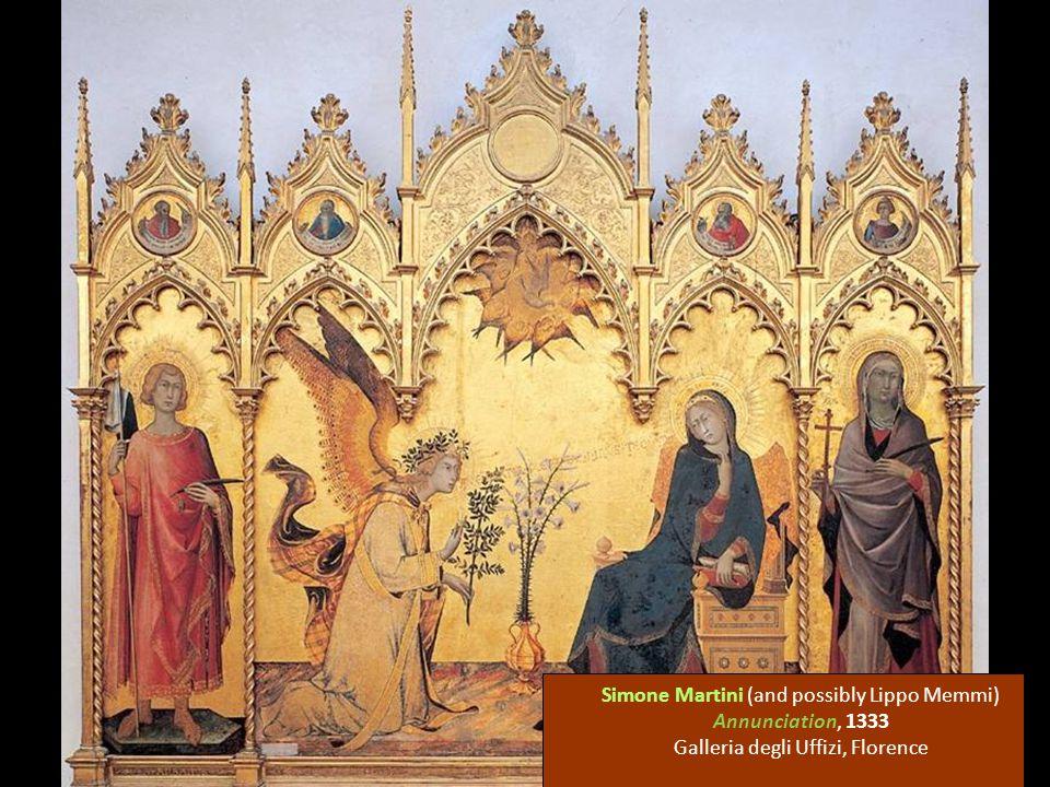 Simone Martini (and possibly Lippo Memmi) Annunciation, 1333