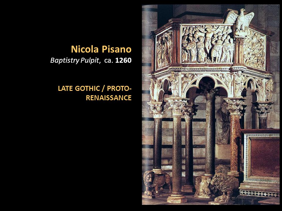 Nicola Pisano Baptistry Pulpit, ca. 1260