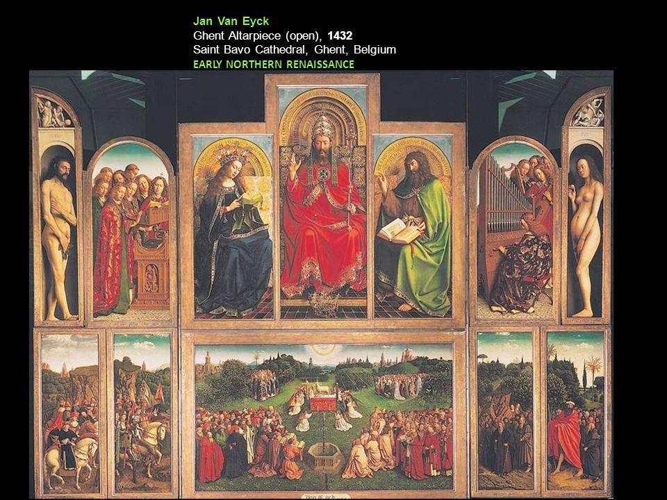 Jan Van Eyck Ghent Altarpiece (open), 1432.