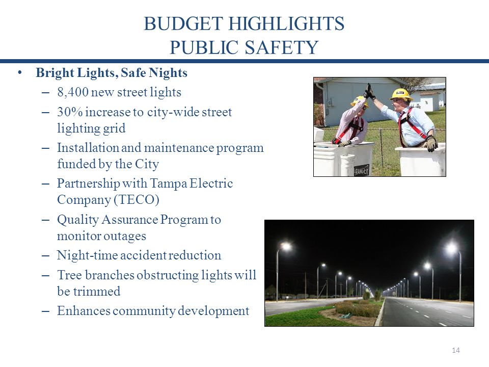 BUDGET HIGHLIGHTS PUBLIC SAFETY