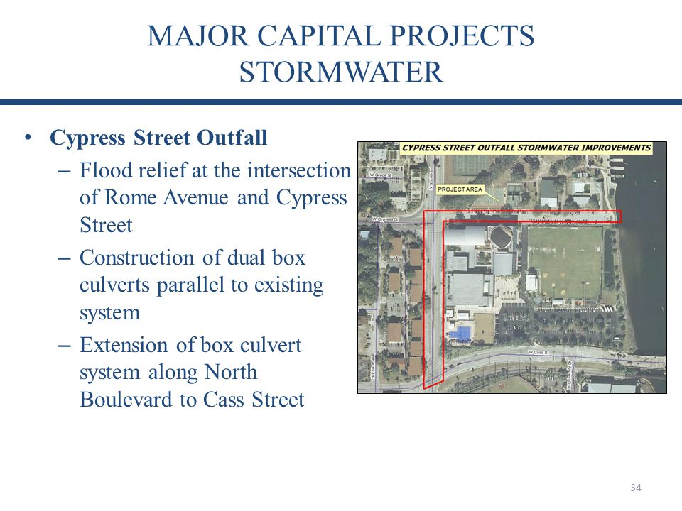 MAJOR CAPITAL PROJECTS STORMWATER