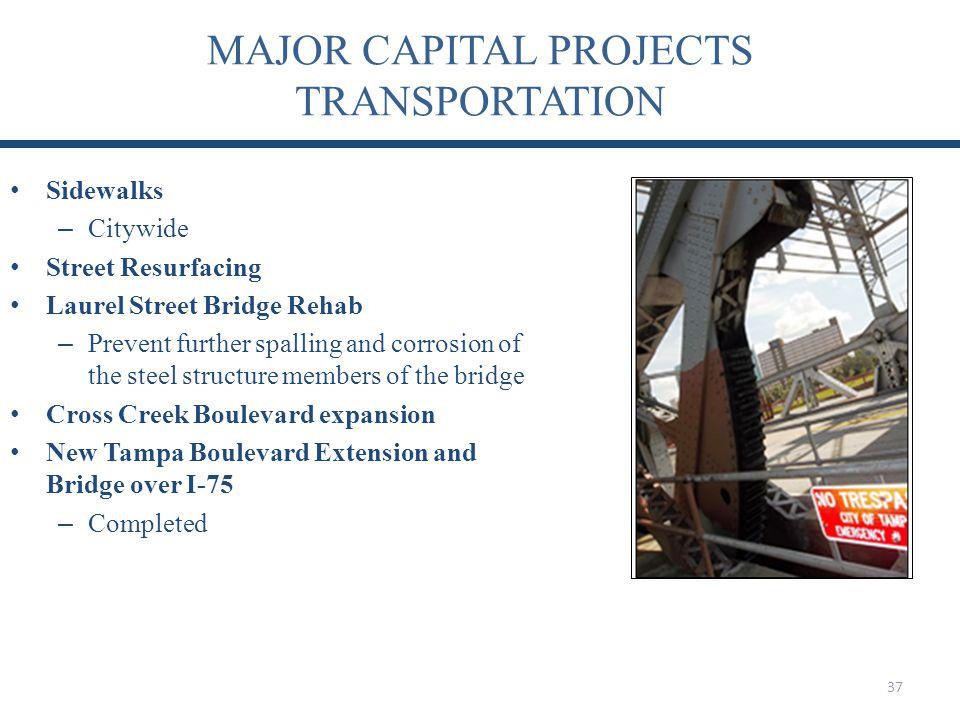 MAJOR CAPITAL PROJECTS TRANSPORTATION