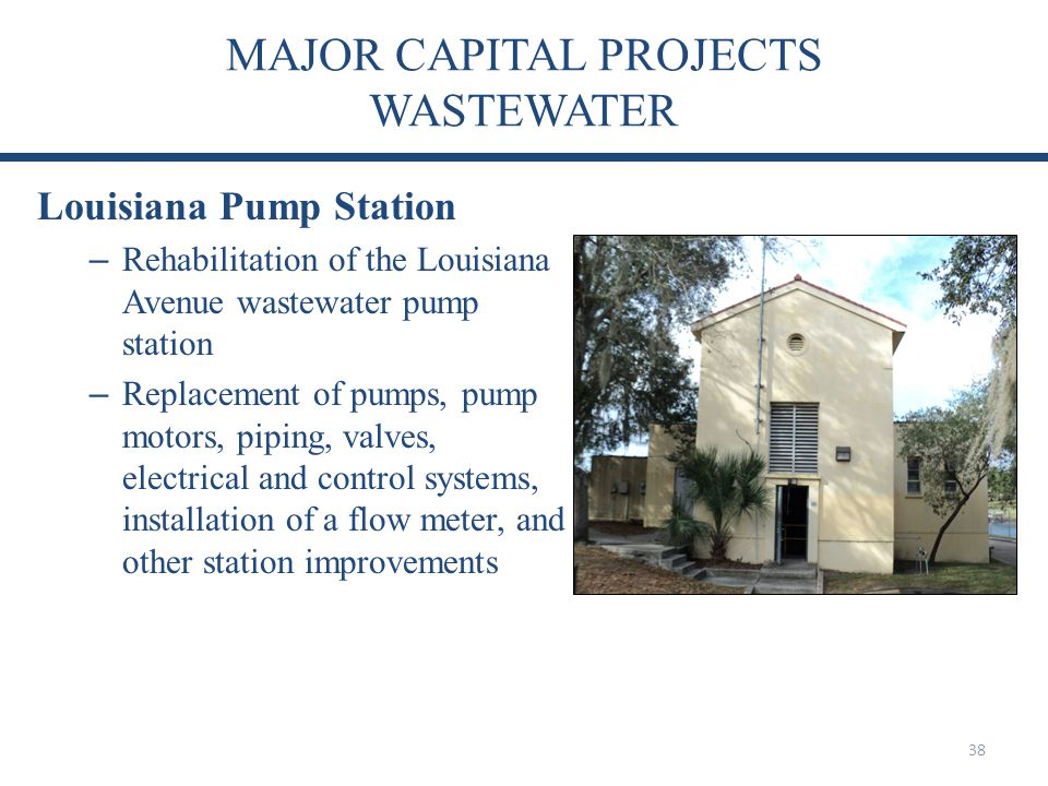 MAJOR CAPITAL PROJECTS WASTEWATER