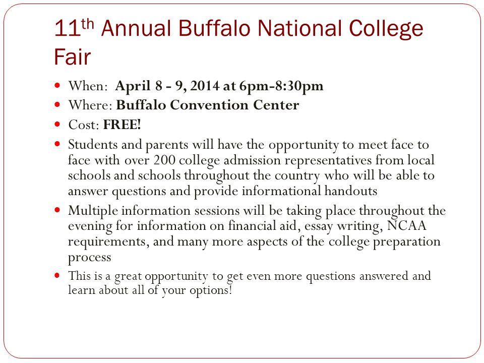 11th Annual Buffalo National College Fair
