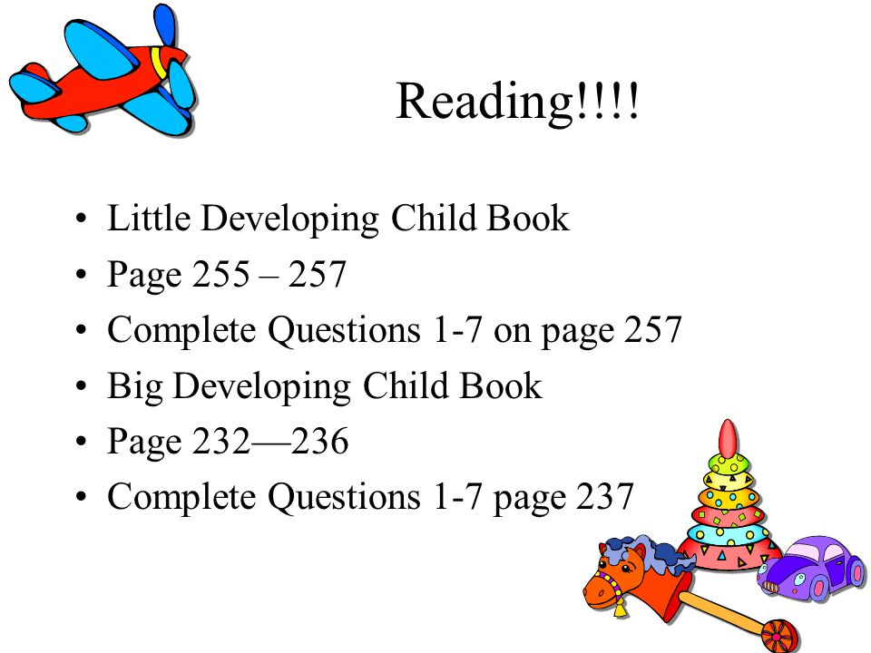 Reading!!!! Little Developing Child Book Page 255 – 257