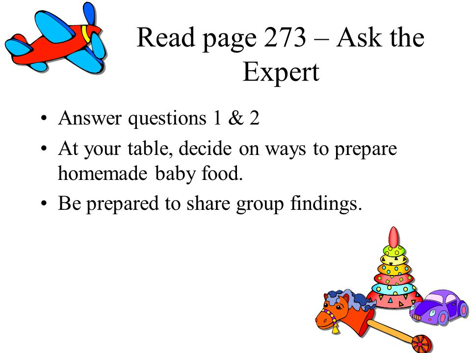 Read page 273 – Ask the Expert