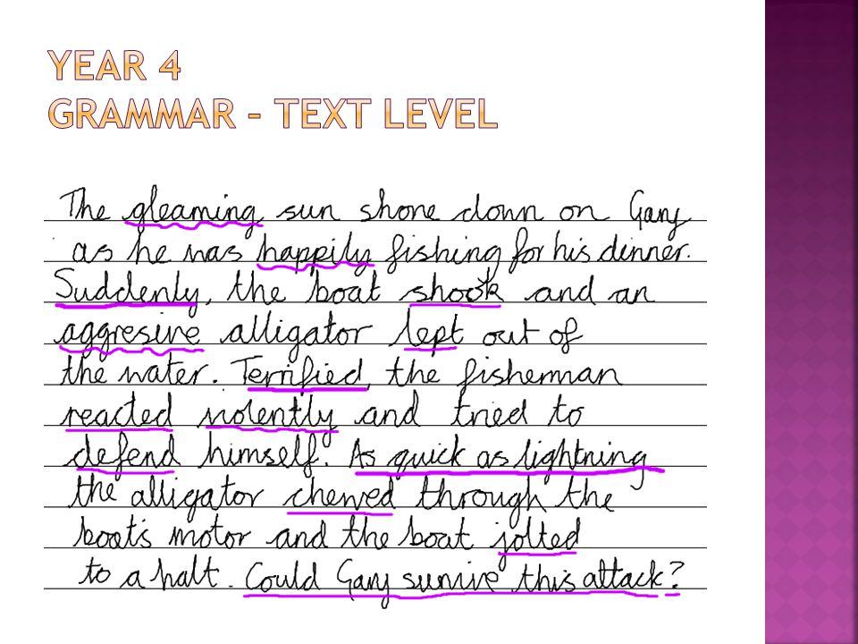 Year 4 Grammar – text level