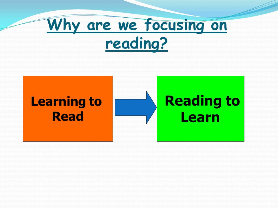 Why are we focusing on reading