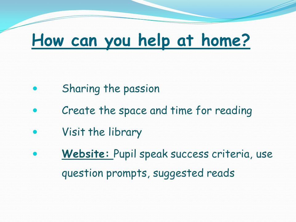 How can you help at home Sharing the passion