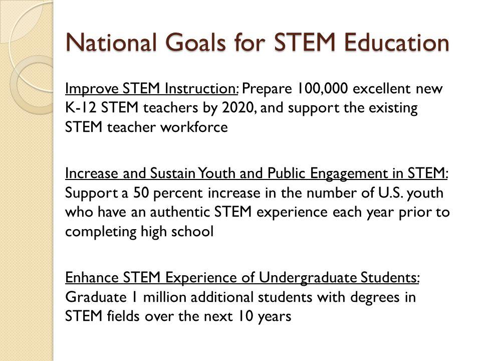 National Goals for STEM Education