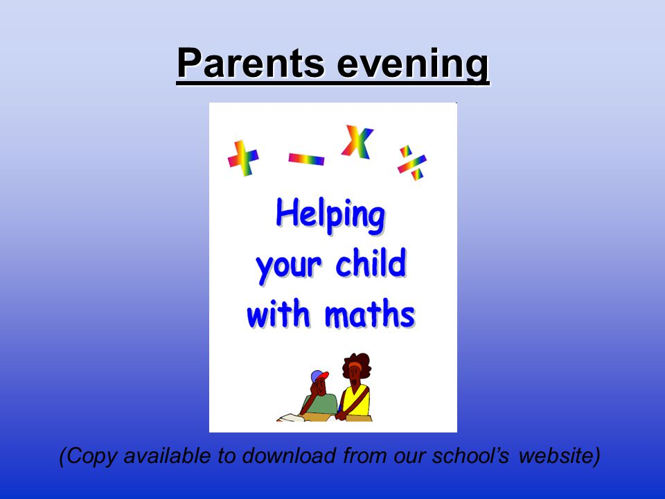 (Copy available to download from our school's website)