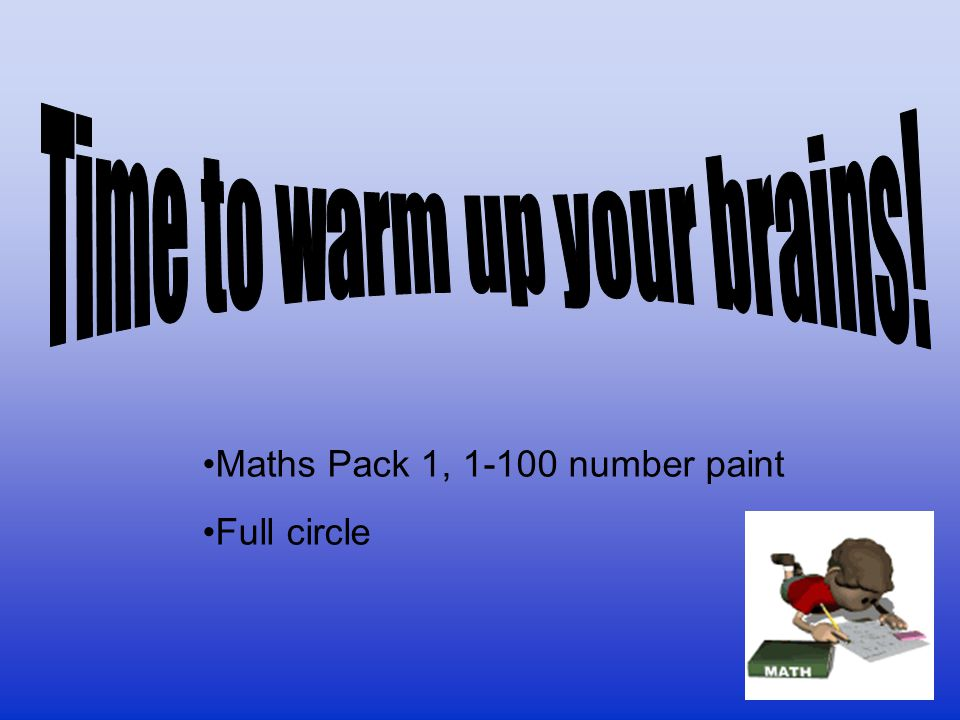 Time to warm up your brains!