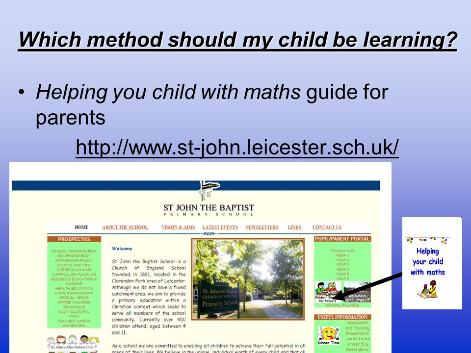 Which method should my child be learning