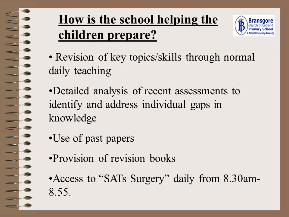How is the school helping the children prepare