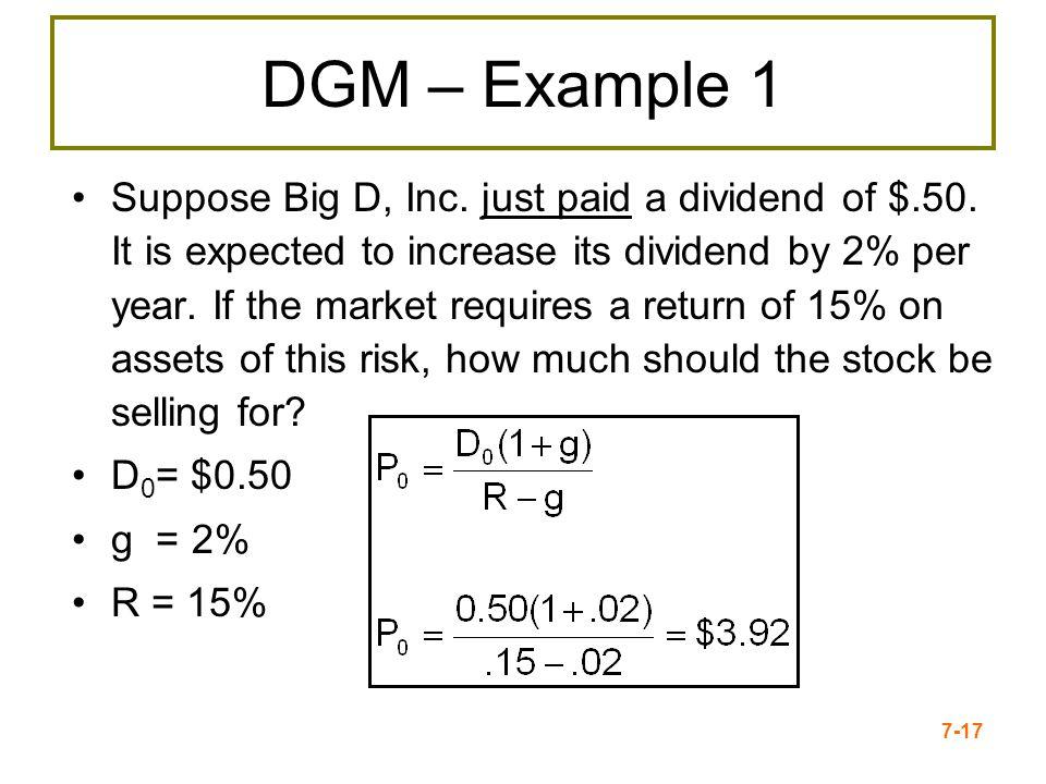 DGM – Example 1
