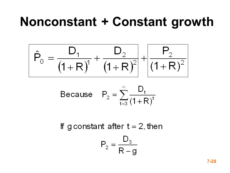 Nonconstant + Constant growth
