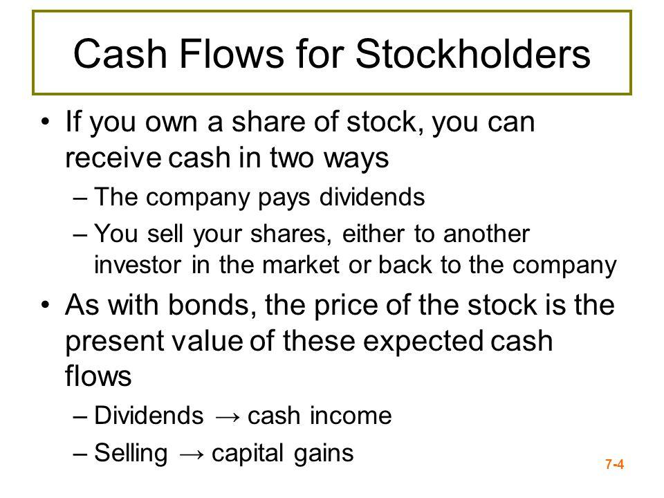 Cash Flows for Stockholders