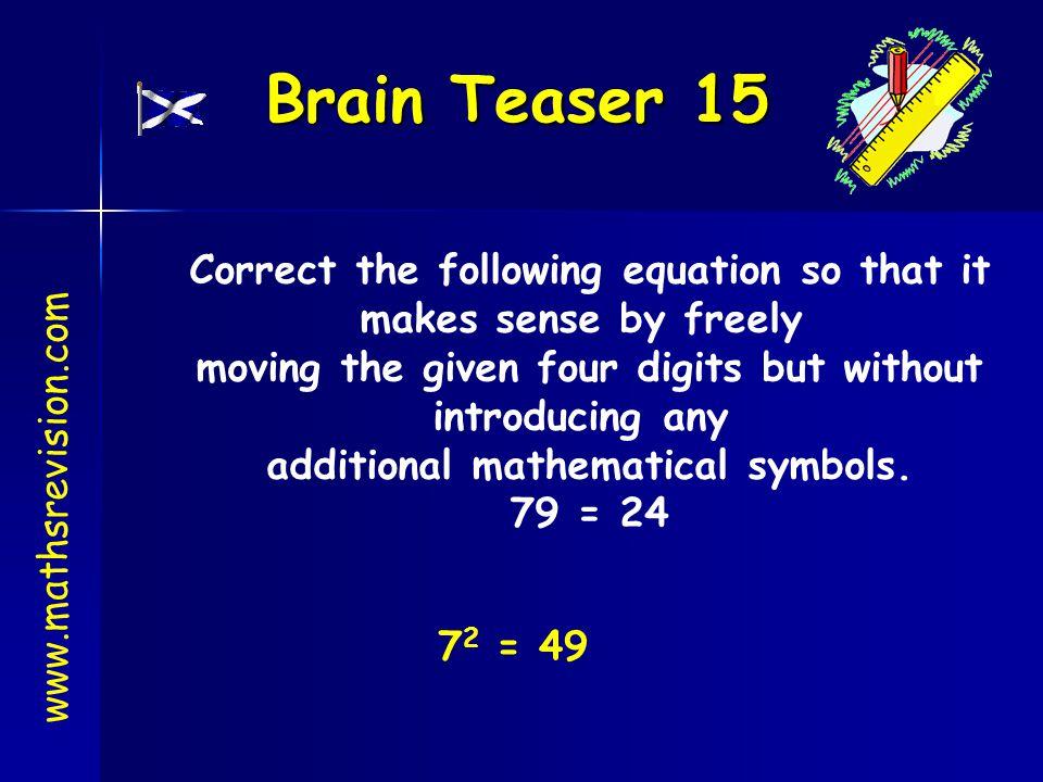 Brain Teaser 15