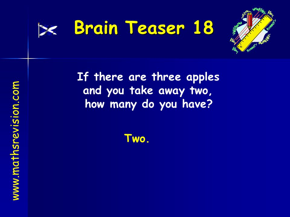 If there are three apples