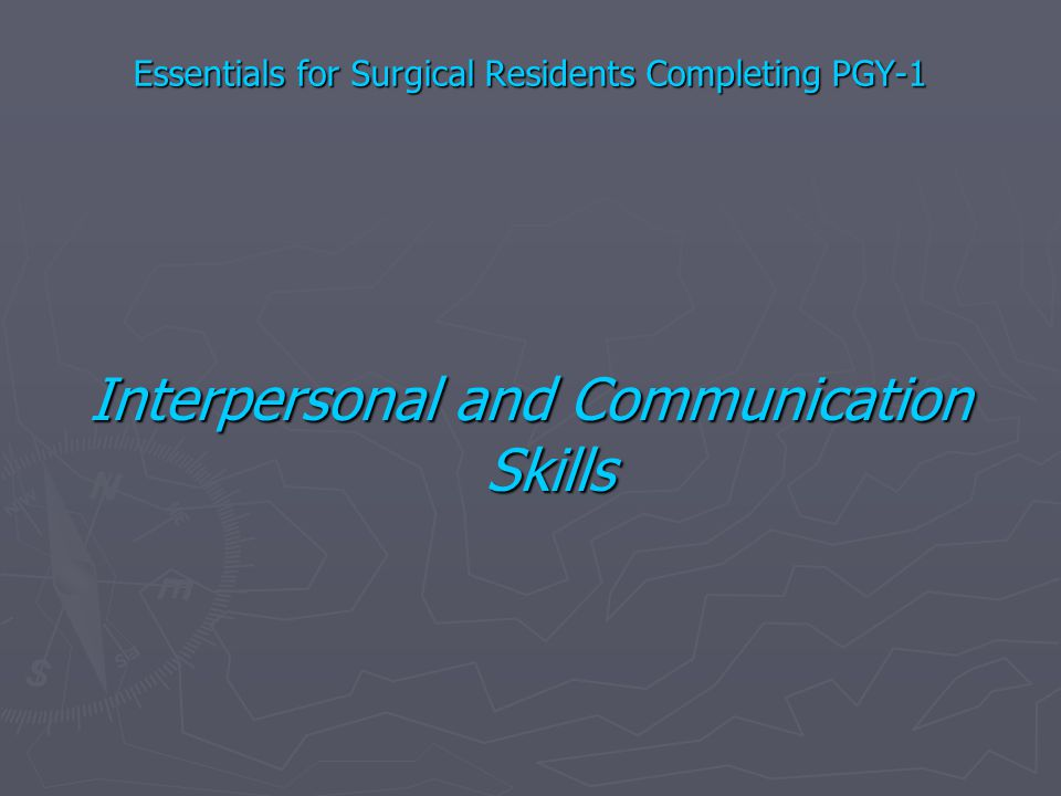 Essentials for Surgical Residents Completing PGY-1