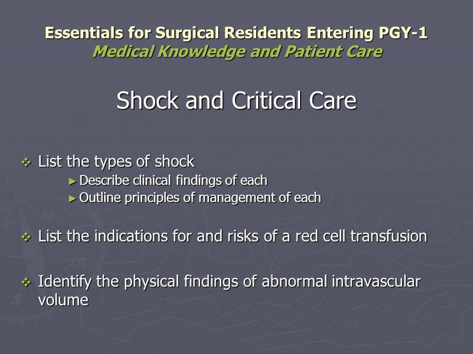 Shock and Critical Care