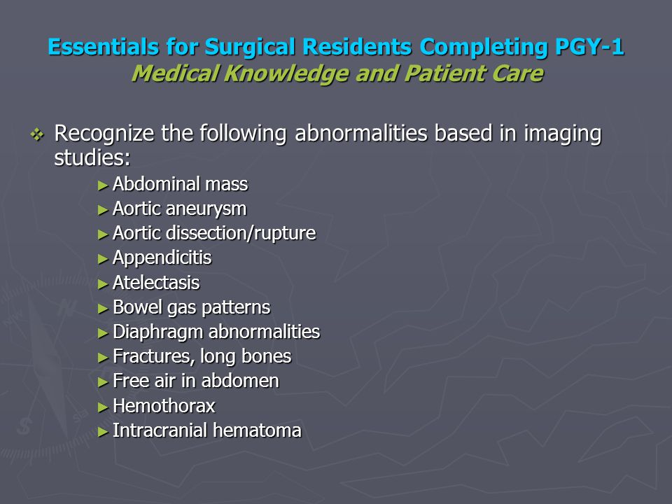 Recognize the following abnormalities based in imaging studies: