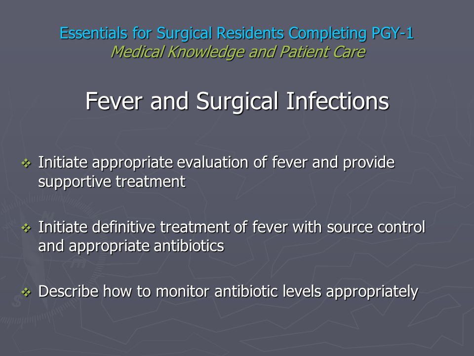 Fever and Surgical Infections