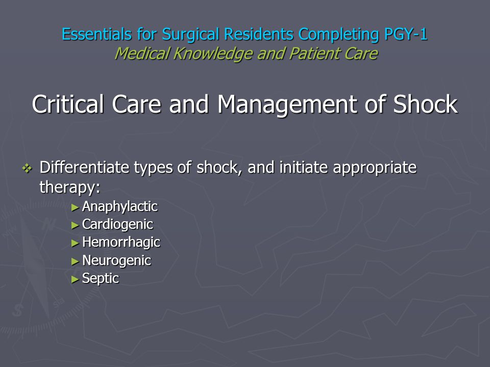 Critical Care and Management of Shock